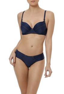 Conjunto De Lingerie Jeans Feminino Azul