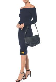 Bolsa Pocket Bag Couro Grande - Preto - U