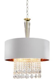 Lustre Lamp Show Toulon Branco - Kanui