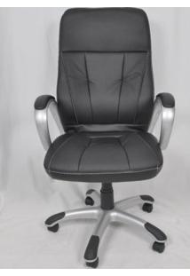 Cadeira Giratória De Escritório Cx0078H03 Bric Couro Pu Preto