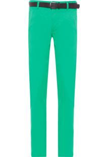 Calça Masculina De Sarja - Verde