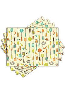 Jogo Americano - Utensílios De Cozinha Com 4 Peças - 227Jo