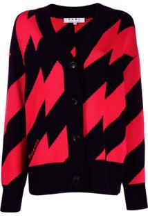 Proenza Schouler Zigzag Knitted Cardigan - Vermelho