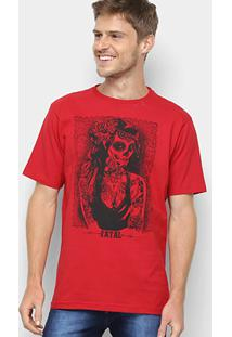 Camiseta Fatal Caveira Mexicana Masculina - Masculino