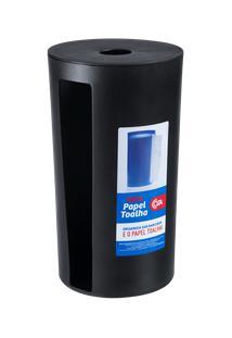 Porta-Papel Toalha Mix Ø 14,3 X 25,3 Cm Preto Coza