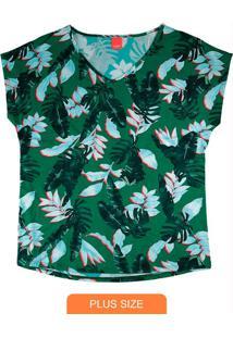 Blusa Verde Mullet Tropical