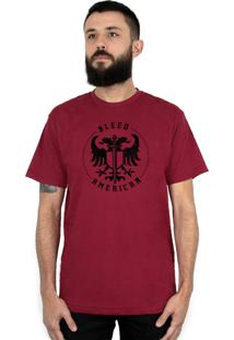 Camiseta Bleed American Sword Of Wisdom Vinho