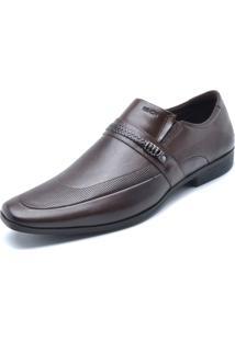 Sapato Social Couro Ferracini Liso Marrom
