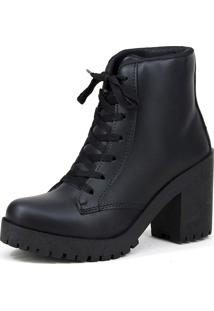 Bota Tratorada Magi Shoes Preto Fosco