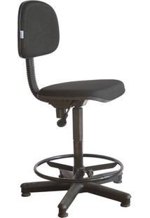 Cadeira Caixa Alta Secretária - Balcão - Portaria - Recepção Tecido Preto