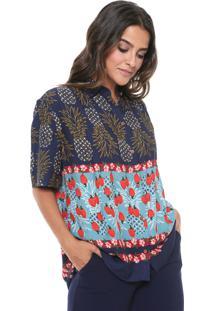 Camisa Cantão Lisbela Azul-Marinho