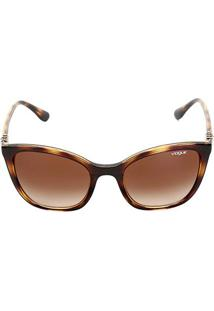 Óculos De Sol Vogue Drops - Feminino-Marrom