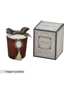 Vela Decorativa- Marrom & Branca- 7Xø5,5Cm- Mabrmabruk