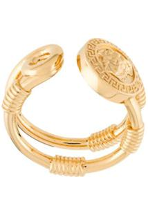 Versace Anel Duplo Medusa - Dourado