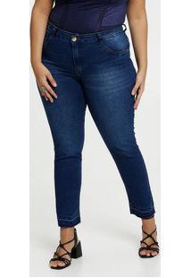 Calça Feminina Jeans Cigarrete Plus Size Biotipo