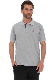 Camisa Polo Clube Náutico Slim Masculino - Masculino-Cinza