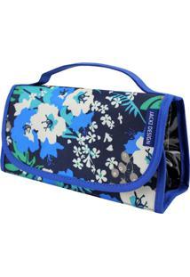 Necessaire Rocambole Estampada Jacki Design Miss Douce Azul Floral