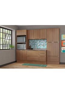 Cozinha Compacta Multimóveis Calábria 5452R.680.680.680 Nogueira Se