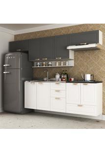 Cozinha Completa 6 Peã§As Americana Multimã³Veis 5669S Branco/Grafite - Branco/Incolor - Dafiti