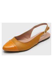 Sapatilha Dafiti Shoes Slingback Amarela