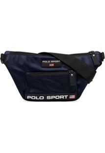 Polo Ralph Lauren Bolsa Transversal Com Patch De Logo - Azul