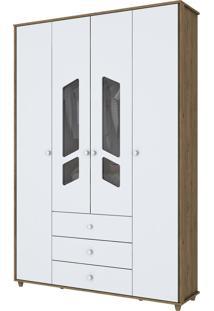 Guarda-Roupa Henn Bambolê I111-18 4 Portas Rústico/Branco Se