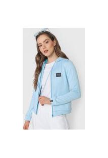 Jaqueta Hang Loose Com Capuz Azul