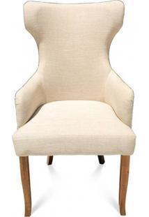 Cadeira Bergere Madeira Maciça Design Clássico