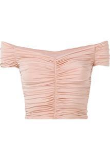 Pinko Blusa Com Detalhe Franzido - Rosa