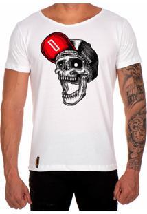 Camiseta Lucas Lunny T Shirt Gola Canoa Estampada Caveira Bon Vermelho