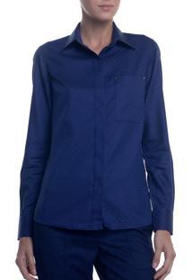 Camisa Ml Fem Jacquard Ft Poa (Estampado, 38)