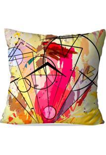 Capa De Almofada Avulsa Decorativa Abstrato Yellow 35X35Cm