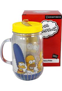 Caneca Pote Família Simpsons Amarelo Zona Criativa