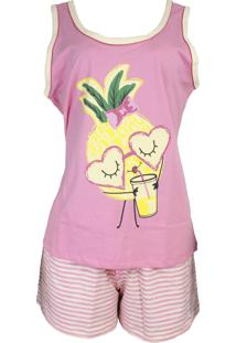 Baby Doll Ayron Fitness Abacaxi Adulto Rosa