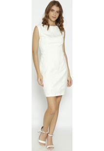 Vestido Texturizado - Off White- Moiselemoisele