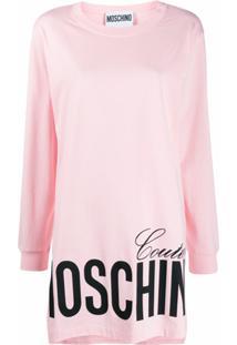 Moschino Vestido De Moletom Moschino Couture - Rosa
