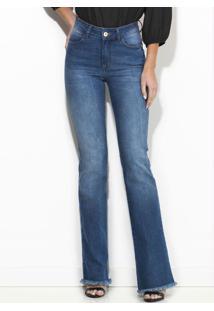 Calça Jeans Flare Azul