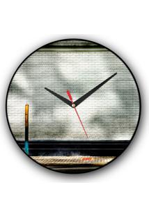 Relógio De Parede Colours Creative Photo Decor Decorativo, Criativo E Diferente - Ponto De Ônibus