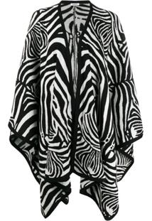 P.A.R.O.S.H. Cardigan Animal Print - Branco