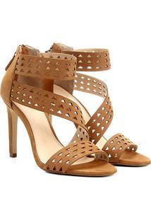 5064b4333 R$ 139,90. Zattini Sandália Couro Shoestock Salto ...