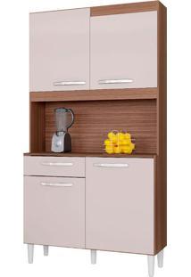 Cozinha Compacta 4 Portas Carine-Poquema - Capuccino / Off White