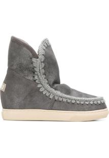 Mou Ankle Boot Com Costura - Cinza