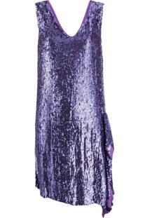 P.A.R.O.S.H. Vestido Com Paetês - Roxo