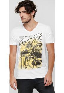 Camiseta Sommer Estampa Frente - Masculino-Branco