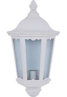 Arandela Biancoluce Colonial Meia Cara Branca 43Cm Nimes Ac277K Luminárias