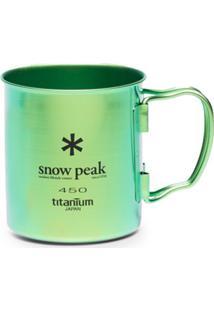 Snow Peak Caneca 350 Com Efeito Furta-Cor - Verde