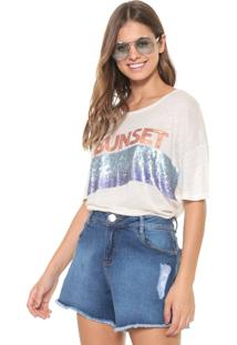Blusa Oh, Boy! Sunset Degradê Bege