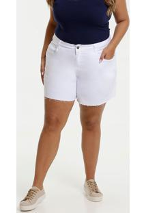 Short Feminino Sarja Plus Size Bolsos Marisa