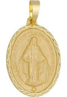 Pingente Nossa Senhora Das Graças Tudo Joias Folheada A Ouro 18K - Unissex-Dourado