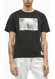 T-Shirt Ckj Masc M/C Andy Warhol Rodeo - Preto - P
